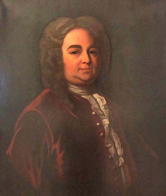 Samuel Shute, Governor of Massachusetts 1716‒1727, copy portrait by Aiden L. Ripley, 1930. Shute was an English military officer who served under King William III and the Duke of Marlborough. (Courtesy of the Commonwealth of Massachusetts, State House Art Commission)